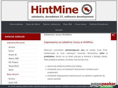 HintMine - szkolenia modelowanie UML
