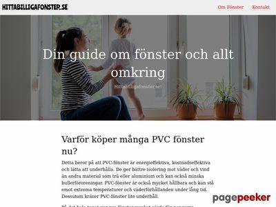 Skärmdump av hittabilligafonster.se