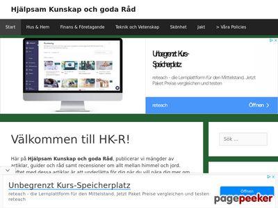 Hjälpsamma Köpguider och Recensioner - http://www.hk-r.se