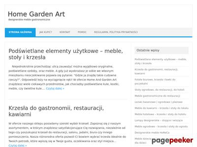 Meble do kawiarni - Home Garden Art