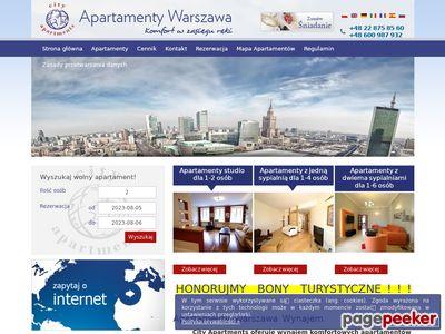 Apartamenty Warszawa wynajem na stronie Hotelinwarsaw.com