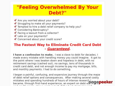 The Fastest Way to Eliminate Credit Card Debt – The Complete Debt Relief Manual