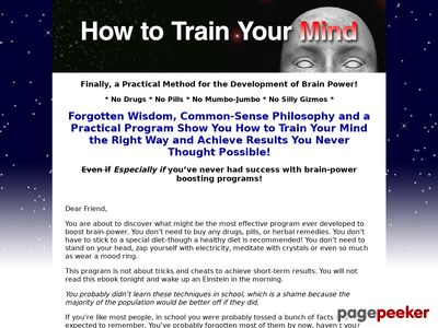 How to Train Your Mind