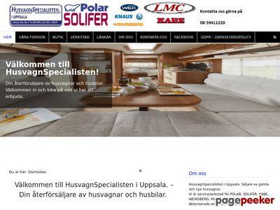 Skärmdump av husvagnspecialisten.se