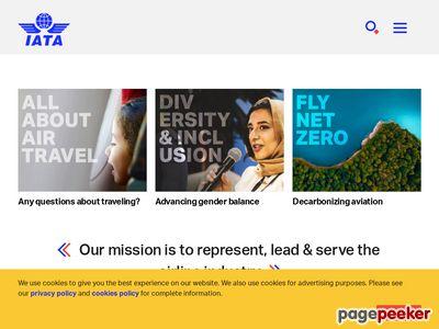 International Air Transport Association Screenshot