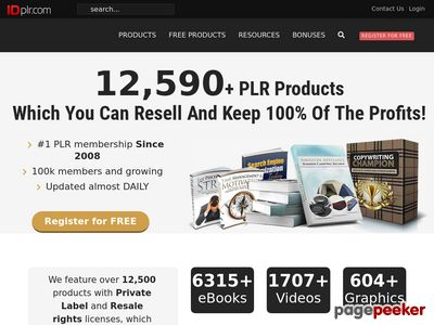 Over 8280 PLR Products with Resell, Master Resale and Private Label Rights