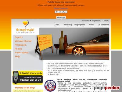 Wirtualny alkomat - ilemogewypic.pl