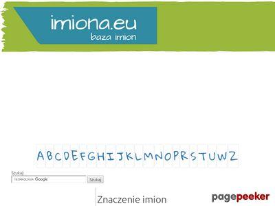 Imiona.eu - Znaczenia imion