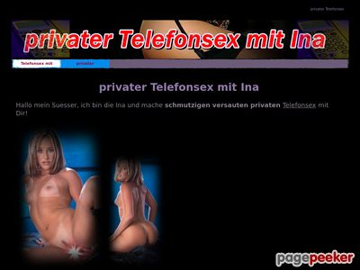 Détails : privater Telefonsex mit Ina
