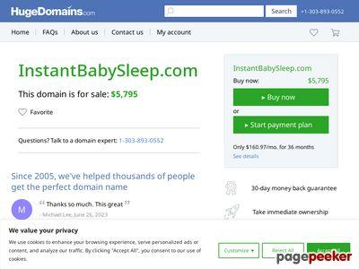 Instant Baby Sleep – Instant Baby Sleep