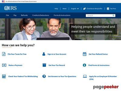 Internal Revenue Service Screenshot