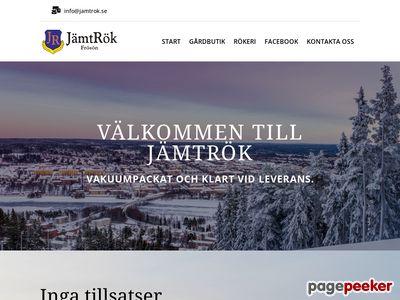 Skärmdump av jamtrok.se