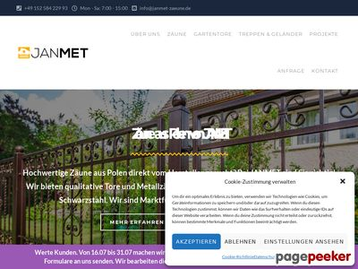Janmet - Zäune und Metalltore aus Polen