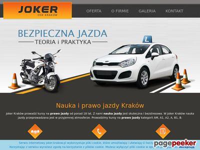OSK Joker prawo jazdy Kraków