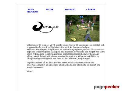 Skärmdump av jong.se