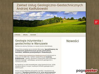 Andrzej Kadłubowski geotechnik Warszawa