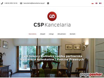 Radca prawny, adwokat - Kancelaria prawna CSP Poznań