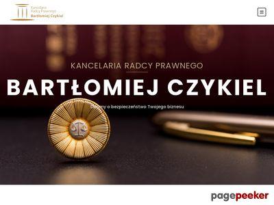 Bartłomiej Czykiel Kancelaria Radcy Prawnego
