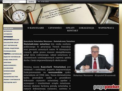 Notariusz Warszawa - Krzysztof Kruszewski