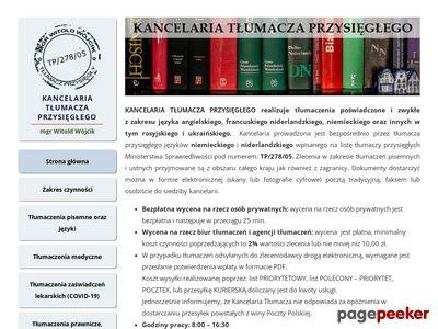Kancelaria Tłumacza Przysięgłego Witold Wójcik