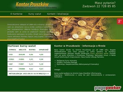 Kantor Pruszków wymiana walut michałowice
