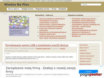 Katalog serwisu WiedzaNaPlus.pl