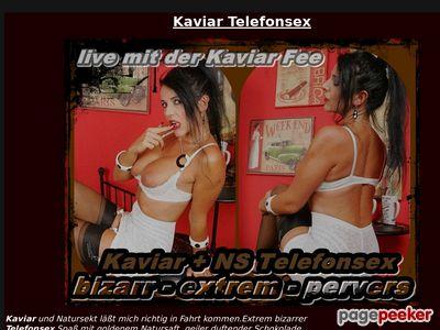Kaviar Telefonsex mit Kaviar Fee
