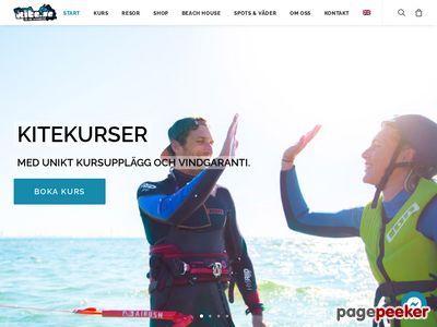Skärmdump av kite.se