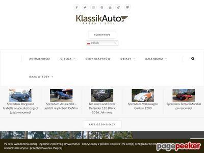 Klassikauto.pl – youngtimery i oldtimery. Klasyczne auta.
