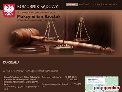 Komornik Sądowy Maksymilian Szostek