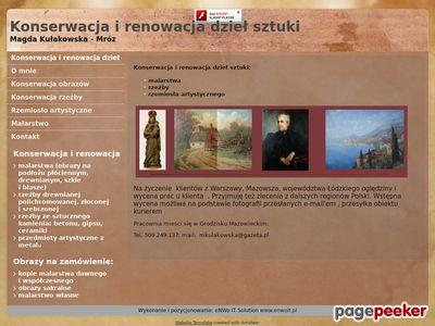 Restauracja obrazów, konserwacja dzieł sztuki - konserwacjads.pl