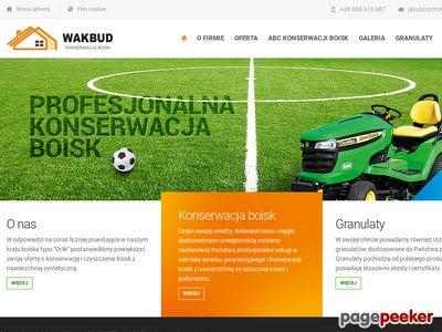 Wakbud - konserwacja orlika, konserwacja boiska