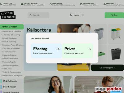 Skärmdump av kontorsmagasinet.se