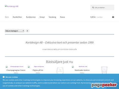 Skärmdump av kortdesign.se