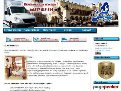Usługi transportowe Kraków, tanie przeprowadzki