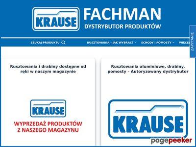 FACHMAN | Rusztowania aluminiowe jezdne Krause