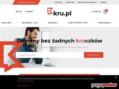Hostingi, rejestracja domeny kru.pl
