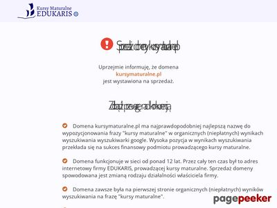 Uzupełnienie wiedzy przed maturą - kursymaturalne.pl