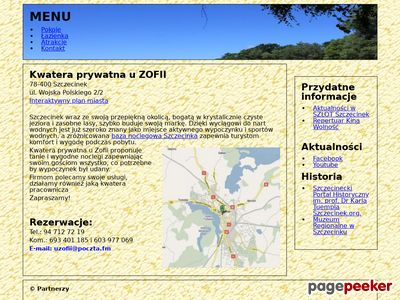 Szczegóły : Kwatera prywatna u Zofii Szczecinek