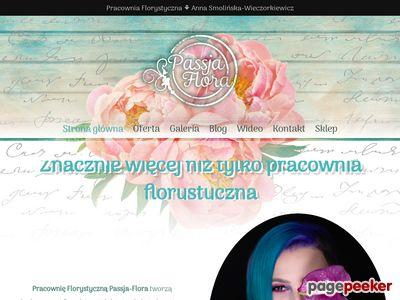 Kwiaty do ślubu Passja-Flora