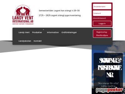 Skärmdump av landyvent.se