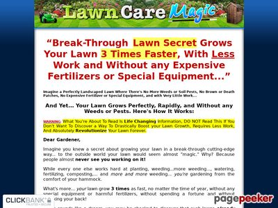 Lawn Care Magic – Grows the Perfect Lawn Fast and Without any Weeds or Pests!