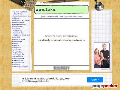 Lekarze Rzeszów - informacja medyczna