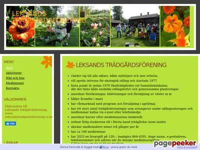 Leksands trädgårdsförening - http://www.leksandstradgardsforening.n.nu