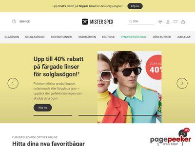 Skärmdump av lensstore.se