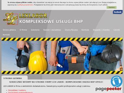 Specjalistyczna obsługa BHP- Lex Labor Opole