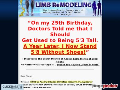 Limb Remodeling - The Scientifically Proven Way of Adding Inches of Real Height - At Any Age