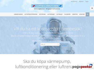 Skärmdump av luftmiljobutiken.se