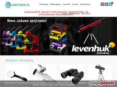Sklep internetowy - teleskopy, mikroskopy