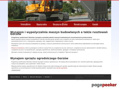 Wypożyczalnia maszyn budowlanych Gorzów